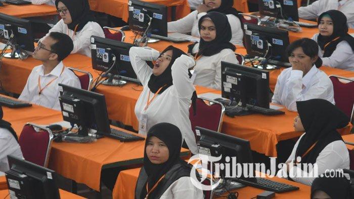 Ribuan Peserta Ikut Tes SKD CPNS Surabaya, Sediakan Fasilitas Penitipan Barang Hingga Live Score Tes