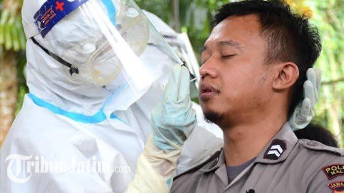 Jelang Pilkada di Tengah Pandemi, 30 Personel Polres Malang yang Bakal Bertugas di TPS Dites Swab
