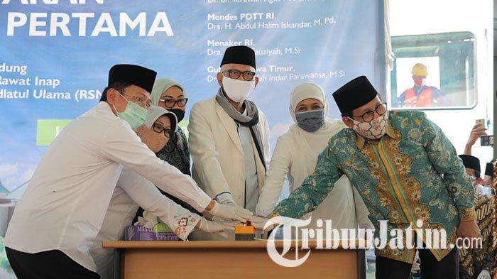 Tiga Menteri Negara Kompak Lakukan Ground Breaking Pembangunan Rumah Sakit NU Jombang