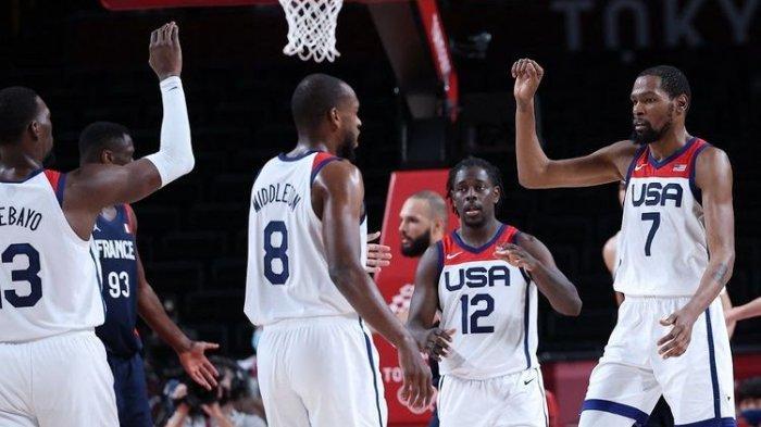 Hasil Final Basket Olimpiade Tokyo 2020 -  AS Rebut Emas Usai Bungkam Prancis