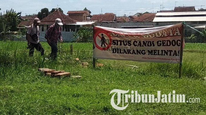 Cari Bangunan Induk, Tim BPCB Jatim Gali Bagian Tengah Pagar Keliling Situs Candi Gedog Kota Blitar