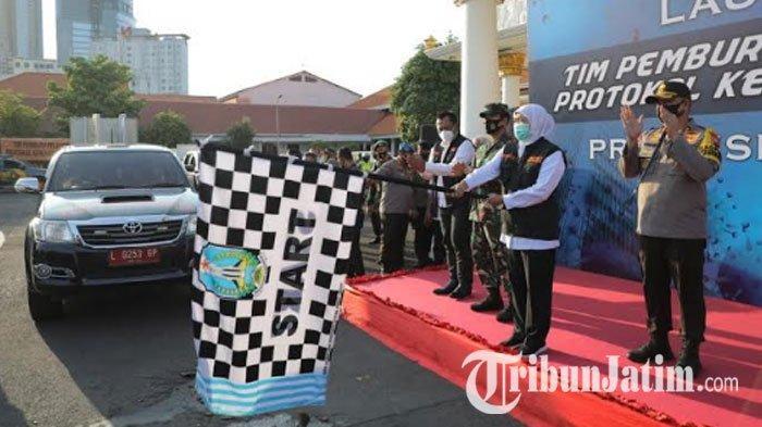 Tim Pemburu Pelanggar Prokes Resmi Diluncurkan,Siap Sisir Warga Jatim yang Abai Protokol Covid-19