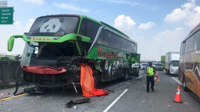 Kecelakaan Maut Bus Restu Tabrak Truk Muatan Kawat Besi di Tol Surabaya-Mojokerto, 1 Korban Tewas