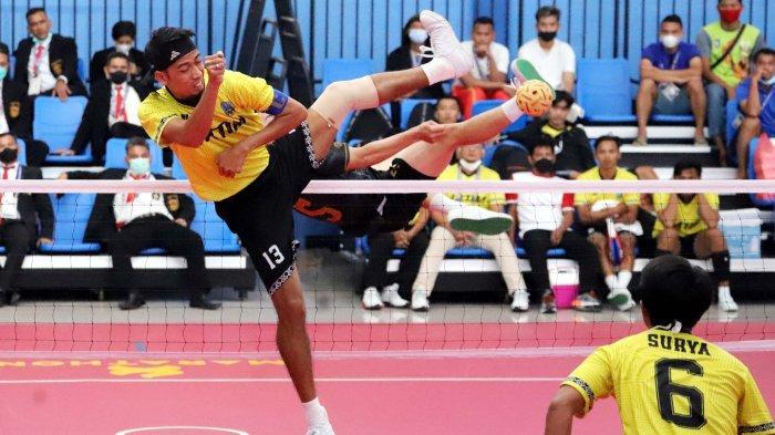 Tim Takraw Putra Raih Emas Pertama untuk Jawa Timur di PON XX Papua 2021