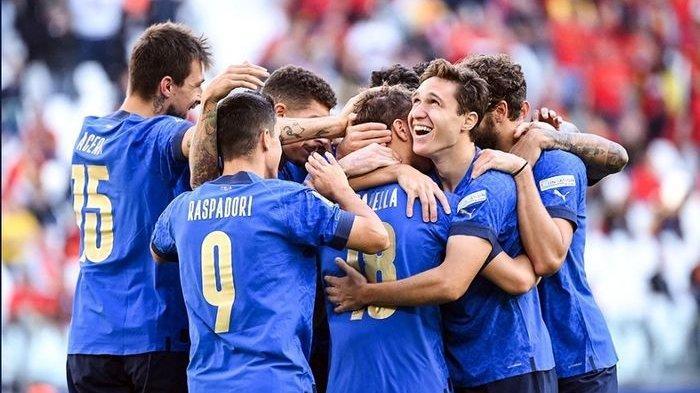 Hasil Italia Vs Belgia - Gli Azzurri Sabet Tempat Ketiga di UEFA Nations League