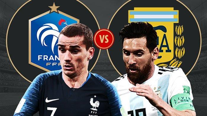 Jadwal Siaran Piala Dunia 30 Juni - 1 Juli 2018, Perancis vs Argentina Buka Babak 16 Besar