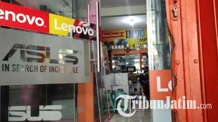 BREAKING NEWS: Toko Komputer di Kota Blitar Dibobol Maling, 46 Unit Laptop Raib