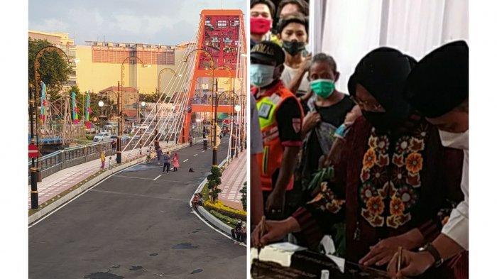 Diresmikan Mensos Risma- Eri Cahyadi, Jembatan Sawunggaling dan TIJ Akhirnya Bisa Dilalui