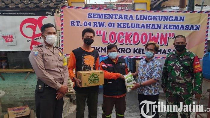 Aksi Cepat Tanggap Bantu Sembako Wilayah Lockdown Karena Covid-19 di Kota Kediri