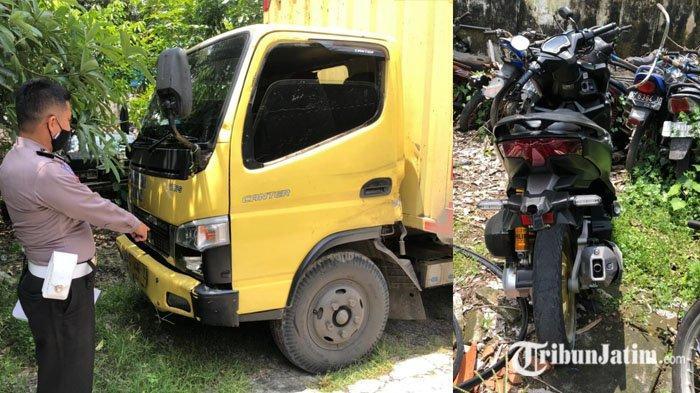Adu Banteng Sepeda Motor vs Truck Box di Kediri, Satu Pengendara Asal Bojonegoro Tewas di Tempat