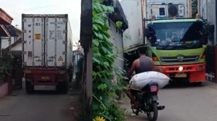 Truk Kontainer Pabrik Ikan Kerap Lewat Gang Sempit, Warga di Tuban Keluhkan Rumah Rusak