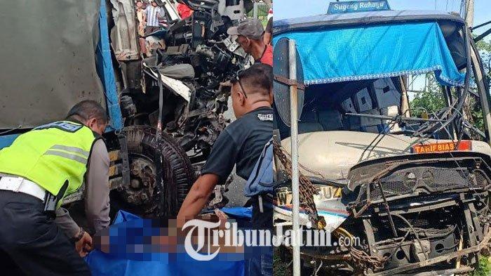Kronologi Truk Muat Gas Tabrak Bus Sugeng Rahayu di Madiun, Saksi Lihat TrukMelaju Kencang & Oleng