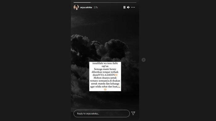 Ucapan Arya Saloka untuk duka cita ibunda Amanda Manopo
