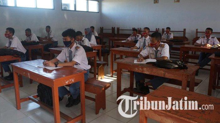Jatim Bebas Zona Merah Covid-19, Jumlah Sekolah yang Gelar Uji Coba Pembelajaran Tatap Muka Ditambah