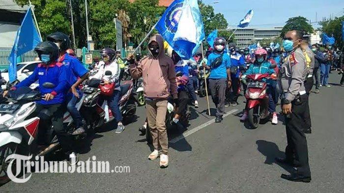 Demo Besar-besaran Hari Ini, Dishub Surabaya Bakal Lakukan Rekayasa Lalu Lintas