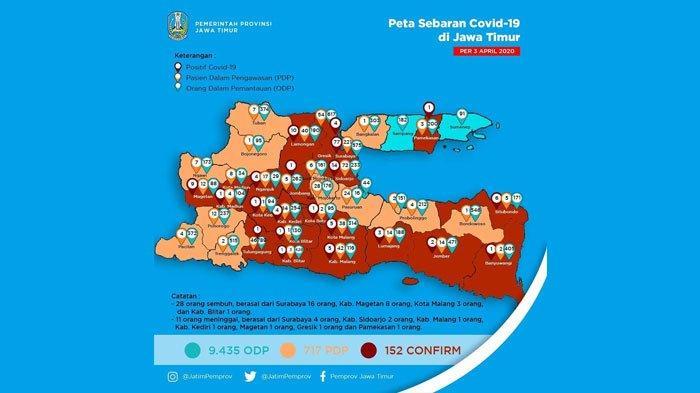 UPDATE CORONA di Jatim Sabtu 4 April, Surabaya Bertambah 33, Lonjakan Pasien di Lamongan