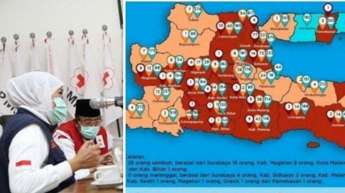 UPDATE Kasus Corona di Surabaya & Jatim Rabu 6 Mei 2020, 569 Positif, Surabaya Timur Masih Tertinggi