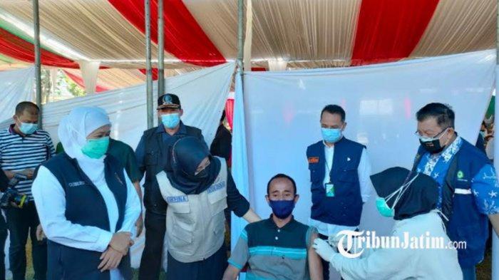 Ribuan Pekerja Padat Karya di Mojokerto Disuntik Vaksin Covid-19 Guna Mempercepat Herd Immunity