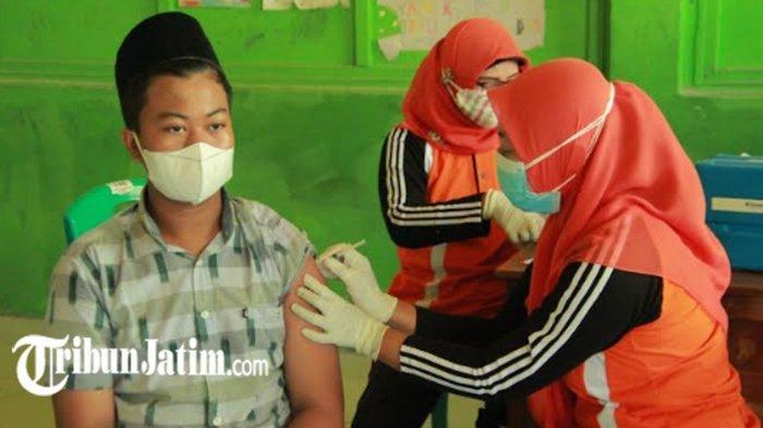 Capaian Vaksinasi Remaja Dosis Pertama di Kota Probolinggo Mencapai 55,5 dan dosis Kedua 3,3 persen