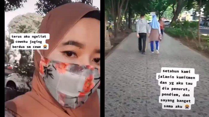 VIRAL Video Pacar Kepergok Jogging Sama Cewek Lain Padahal Bilangnya Ngegame, 'Manusia Bukan?'