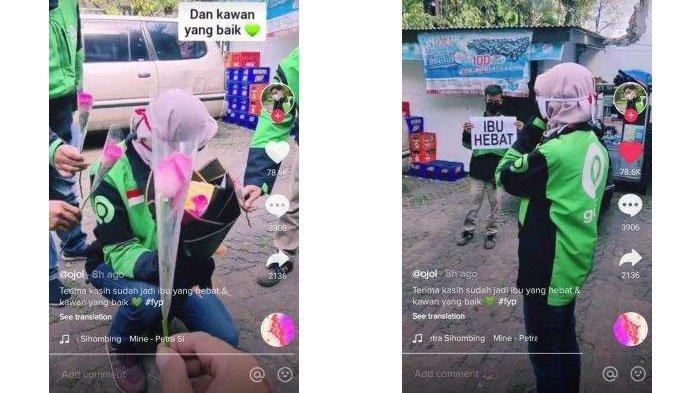 VIRAL Video Driver Ojol Wanita Dapat Surprise dari Rekan Seprofesinya, Terharu: Gimana Enggak Nangis