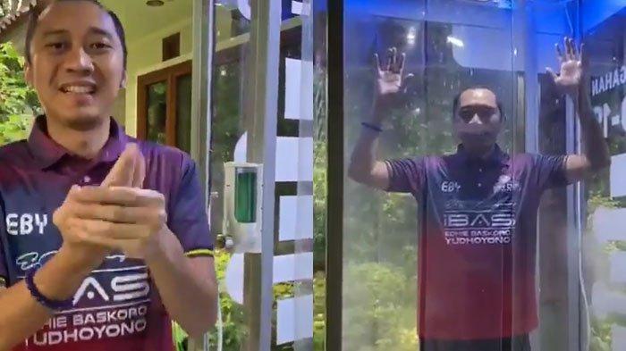 VIRAL Video Ibas Coba Bilik Disinfektan Cegah Virus Corona, Awalnya Jogging: Wow Bersih Sekali