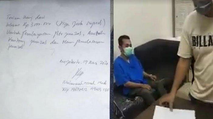 Klarifikasi Pihak RS di Mojokerto Soal Biaya Pemulasaran Rp 3 Juta, 'Salah Paham', Uang Dikembalikan