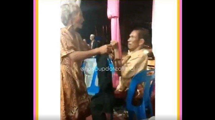 VIDEO: Nenek dan Kakek Cekcok karena Biduan, Teriak Tolong, Angkat Kursi hingga Ludahi Wajah