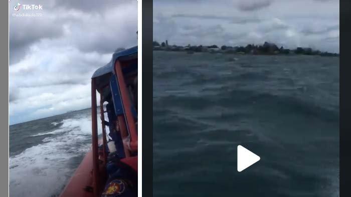 Video petugas Damkar yang viral di media sosial. Momen pencarian Sriwijaya Air SJ 182.