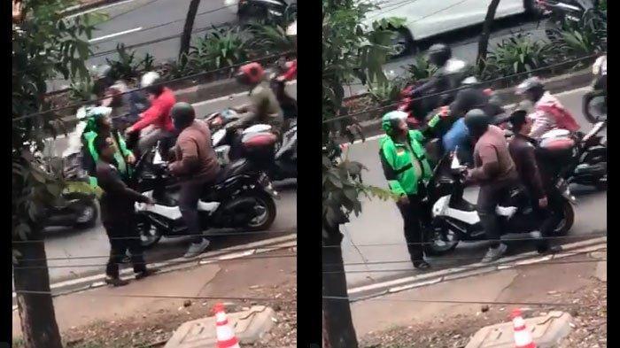 VIRAL Video 'Driver Ojol' Cegat Pengendara Nmax Nekat, Langsung Ciut saat Tahu Kalau Polisi Nyamar