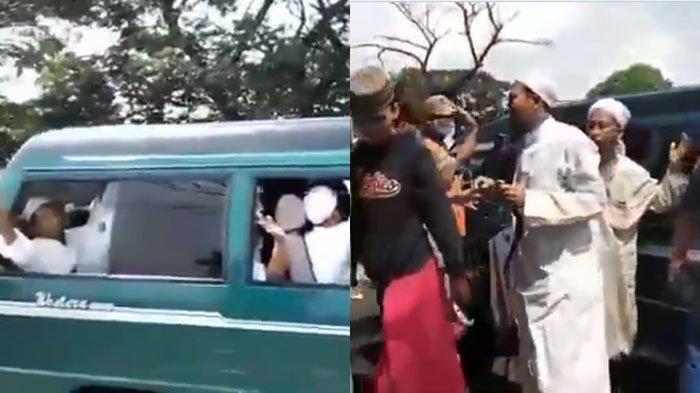 Video Rombongan Ramai Berdoa di Penyekatan Viral, Ternyata Bukan Mau Mudik, Polisi Beri Masker