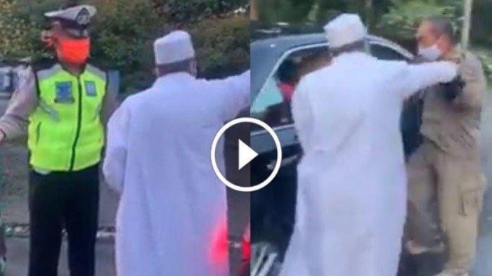 Babak Akhir Cekcok Pria Jubah Putih VS Petugas PSBB, Sosok Habib Umar hingga 'Mediasi' Polda Jatim