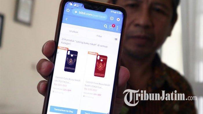 VIRAL Casing Handphone Gambar Buku Nikah Dijual 100 Ribu di Online Shop, Kemenag Jombang Buka Suara