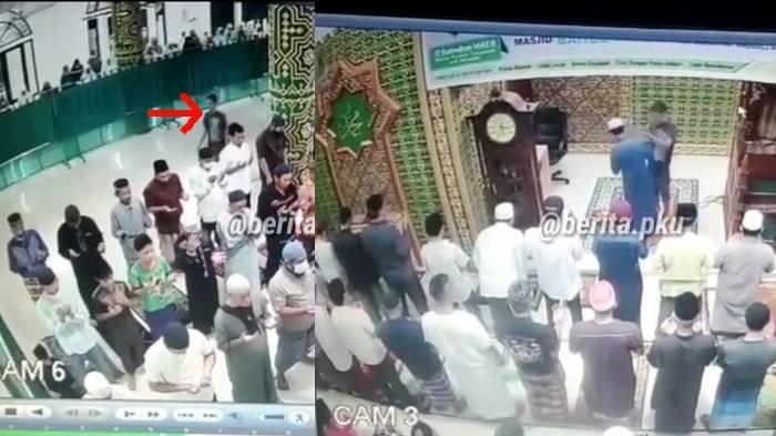 VIRAL Pria di Pekanbaru Tampar Imam Masjid saat Pimpin Salat, Diamankan Polisi, Motif Belum Terkuak