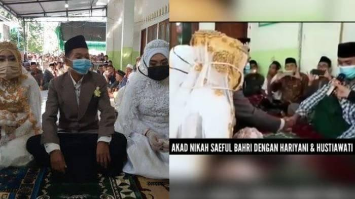 Viral Pria di Lombok Nikahi Pacar dan Sepupunya Sekaligus, Saepul: Suka Dua-duanya, Ikhlas Dimadu