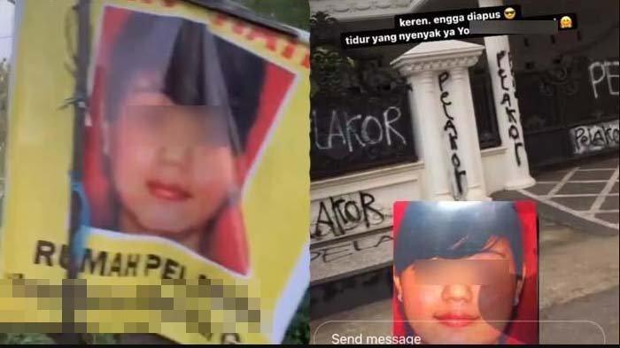 Cerita Asli Rumah Diduga Pelakor Dicoret-coret Anak Istri Sah, Si Wanita Dinikahi Siri? Warga: Ribut