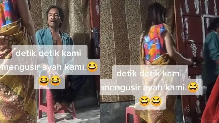 VIRAL Video Ayah Diusir Anak-anaknya dari Rumah, Diduga karena Dendam, Semua Aib Dibongkar di TikTok