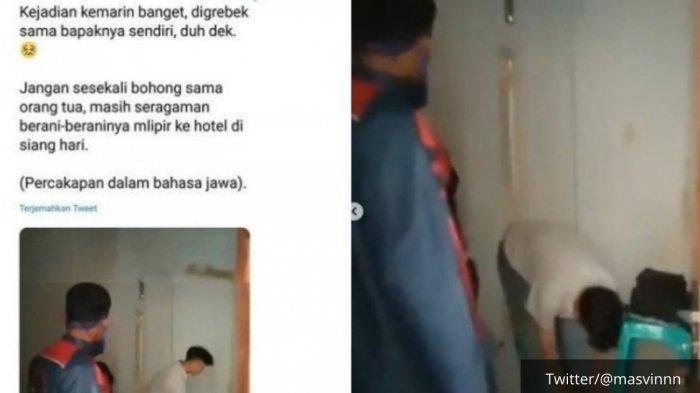 VIRAL Video Bapak Pergoki Anak bareng Pacar di Hotel, 'Percuma Tak Rawat', Viral Reaksi Kecewa Ayah