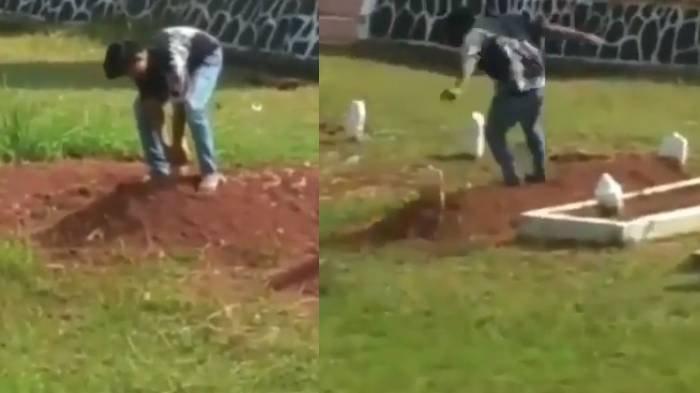 Viral Video Siswa SMP 14 Tahun Injak-injak Makam Pahlawan, Push Up dan Cabut Nisan, Ini Kata Polisi