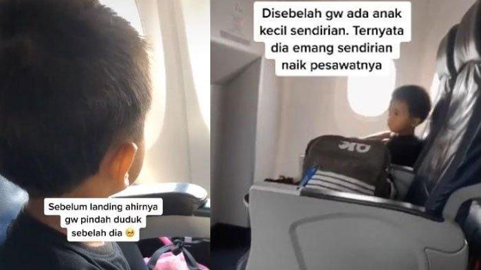 VIRAL Video Bocah Cilik Naik Pesawat Sendirian, Motif Mulia di Baliknya Terkuak: Mau ke RS Demi Ayah