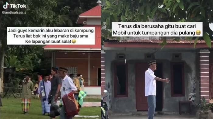 Viral Video Kakek Salat Idul Adha Pakai Seragam SMA, Pengakuan Pengunggah: Siapa Tahu Mau Bantu