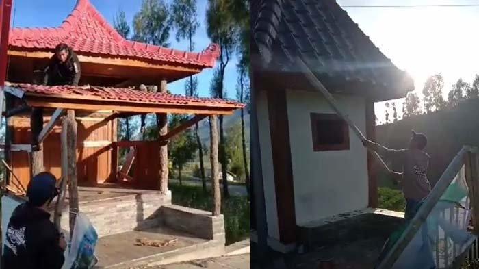 Kesal Upacara Adat Dibubarkan, Warga Ranupane Lumajang Rusak Bangunan Desa, Videonya Viral
