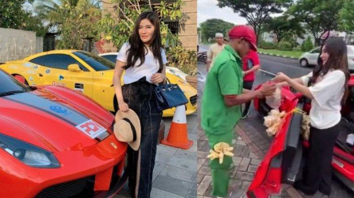 Terkuak Sosok Asli Wanita Bagi Nasi Bungkus Pakai Ferrari, Si Crazy Rich Surabaya Rekan Para Artis