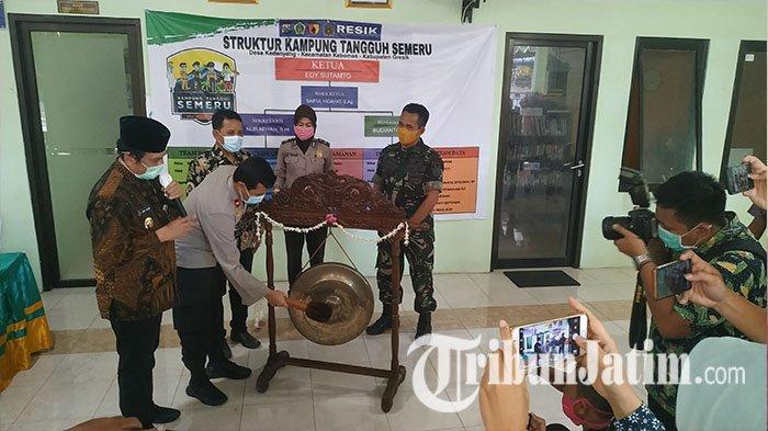 Wabup Qosim Launching Kampung Tangguh Semeru di Desa Kedanyang: Ciptakan Budaya Bersih dan Sehat