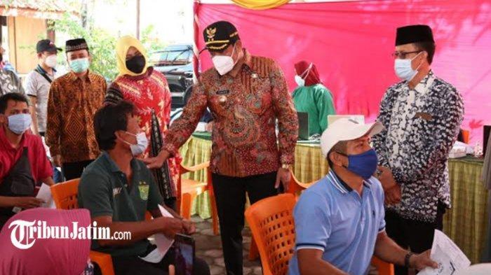 Tinjau Vaksinasi Covid-19, Wabup Sidoarjo Subandi: Tetap Patuhi Protokol Kesehatan, Batasi Mobilitas
