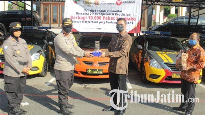 Polres Blitar Kota Terima Bantuan 200 Paket Sembako untuk Dibagikan ke Warga Terdampak Covid-19