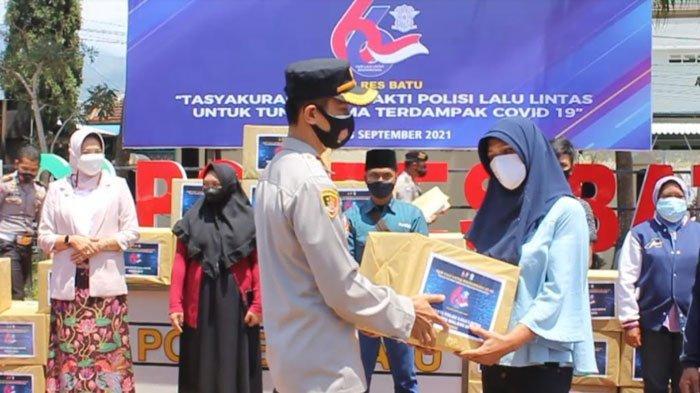 HUT ke-66 Lantas Bhayangkara, Satlantas Polresta Malang Kota Salurkan Bansos & Luncurkan Film Pendek