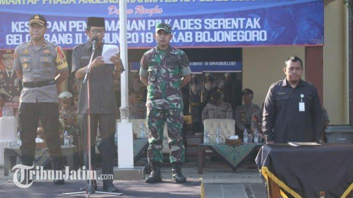 Polres Bojonegoro Sebut Politik Identitas dan Penyebaran Isu MasihBerlaku saat Pilkades Serentak