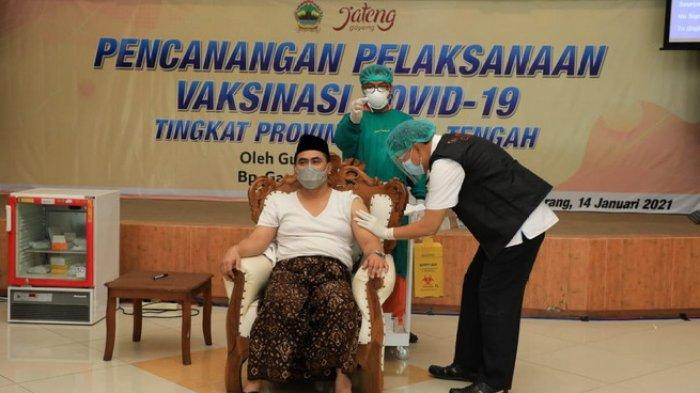 Giliran Wakil Gubernur Jateng, Taj Yasin Maimoen Divaksin Covid-19