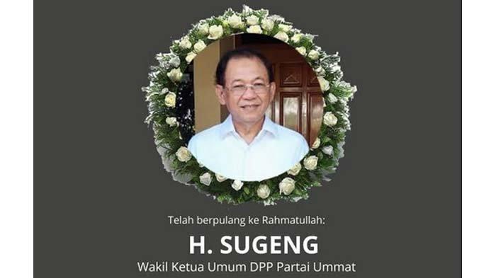 BREAKING NEWS - Kabar Duka, Wakil Ketua Umum DPP Partai Ummat Sugeng Meninggal Dunia